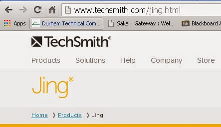 TechSmith's Jing product web site