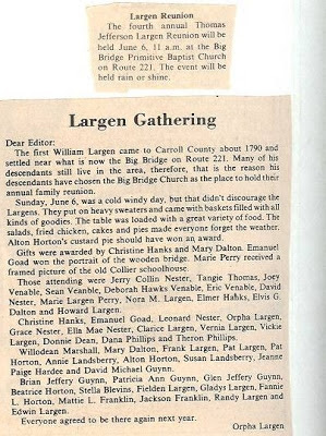 Largen Family Gathering