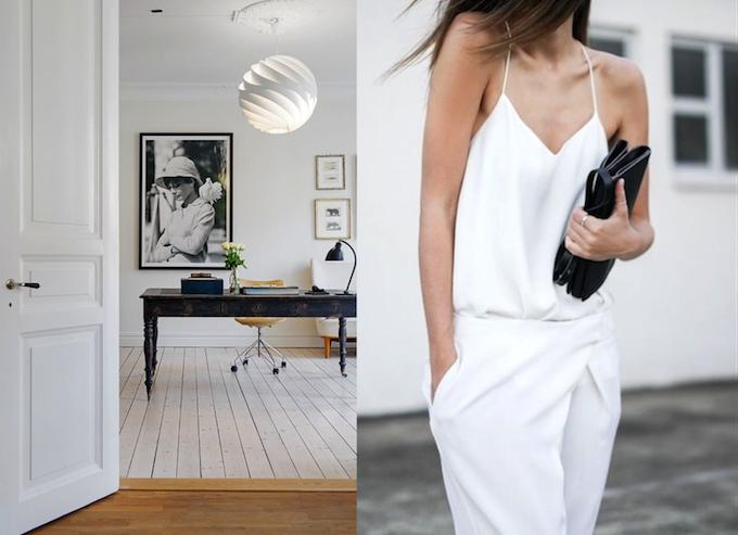 blanco mujeres y estilo