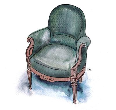 Arm chair by Yukié Matsushita