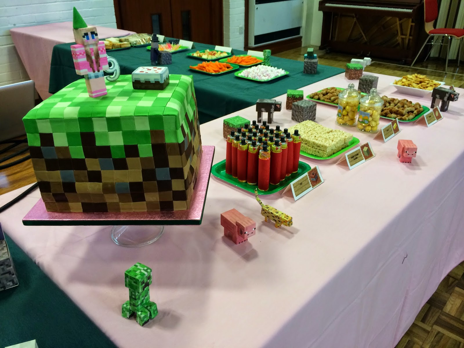 how to make a minecraft birthday cake in real life