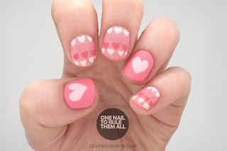 Sweet Heart Nail Art