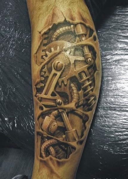 Steam Punk Tattoo On Arm