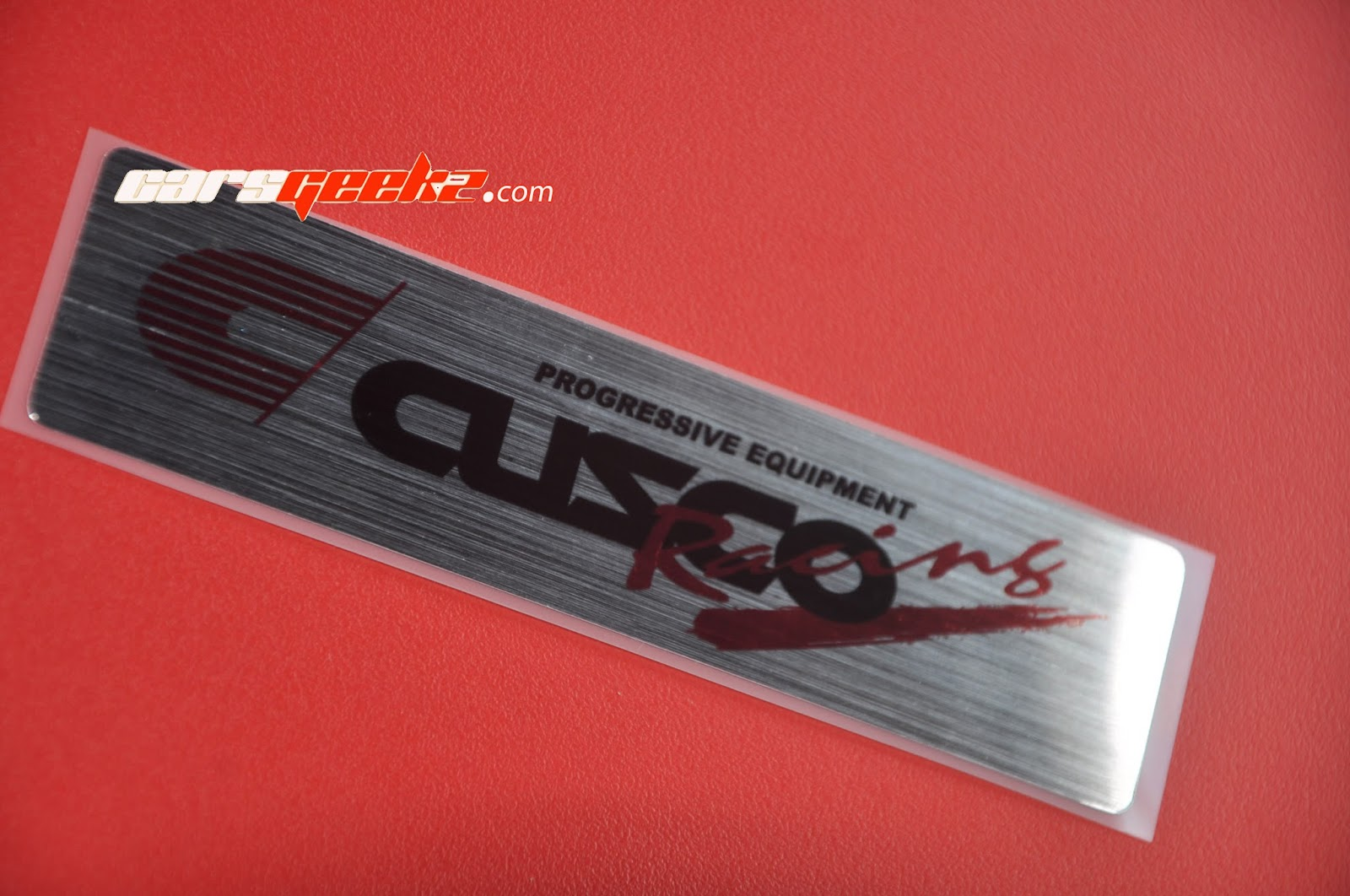 Cusco Racing Progresive Equipment Chrome Sticker Silver Brush decals
