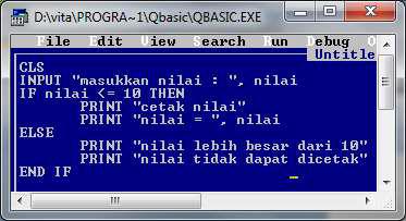 Berfungsi untuk memilih apakah kondisi  statement kondisi pada qbasic