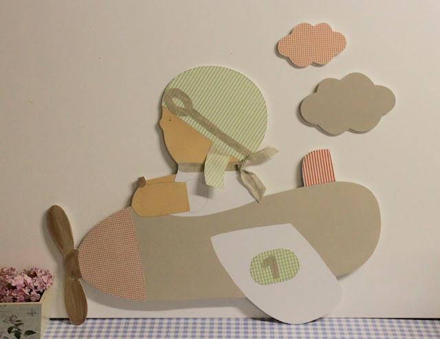 silueta-infantil-decoracion-infantil-pintada-mano-aviador