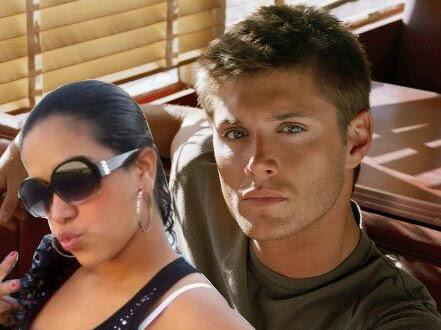 Achei ! Minha amiga com o Jensen Ackles ( montagem)