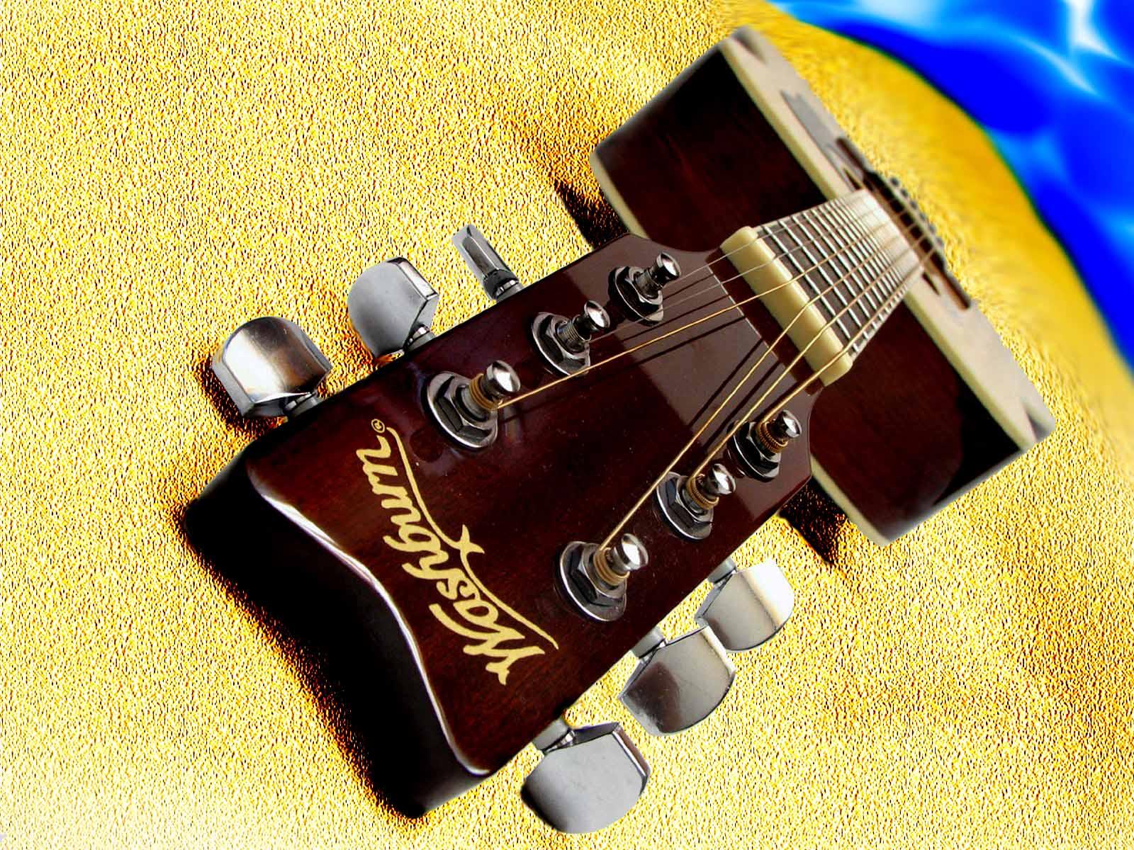 acoustic guitar beach wallpaper tidal treasures