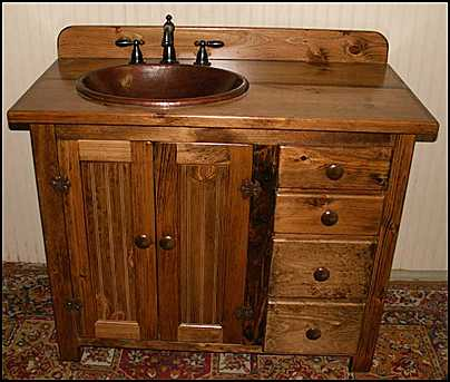 Country style wood bathroom vanity design tips furniture for Bathroom cabinet ideas furniture