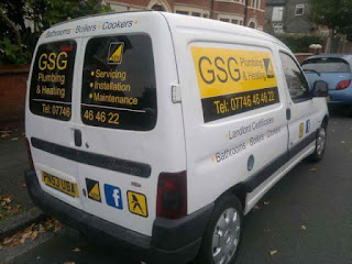 GSG Plumbing and Heating van out and about