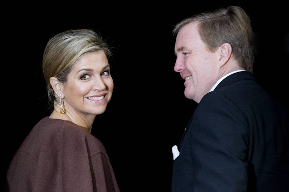 King Willem-Alexander of The Netherlands, Queen Maxima of The Netherlands and Princess Beatrix attended the New Years reception with members of the Corps Diplomatique
