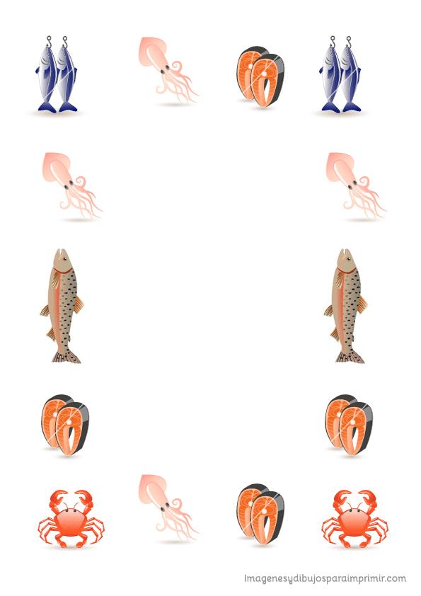 hojas para recetas de pescado