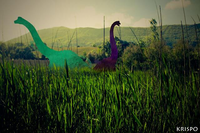 dos dinosaurios junto a Jaizkibel