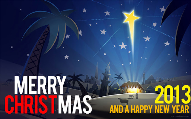 Merry Christmas and a happy new year - 2013 - God bless you