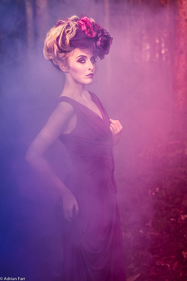 Photography, Adrian Farr, Mystic Magic, fashion, creative, High Fashion, Photo, Romantic, Fantasy, Headwear, Headpiece, Couture, Couture Fashion, Purple, Red, Floral, Designer, Fashion Photography, Valentines, Romantic photography,