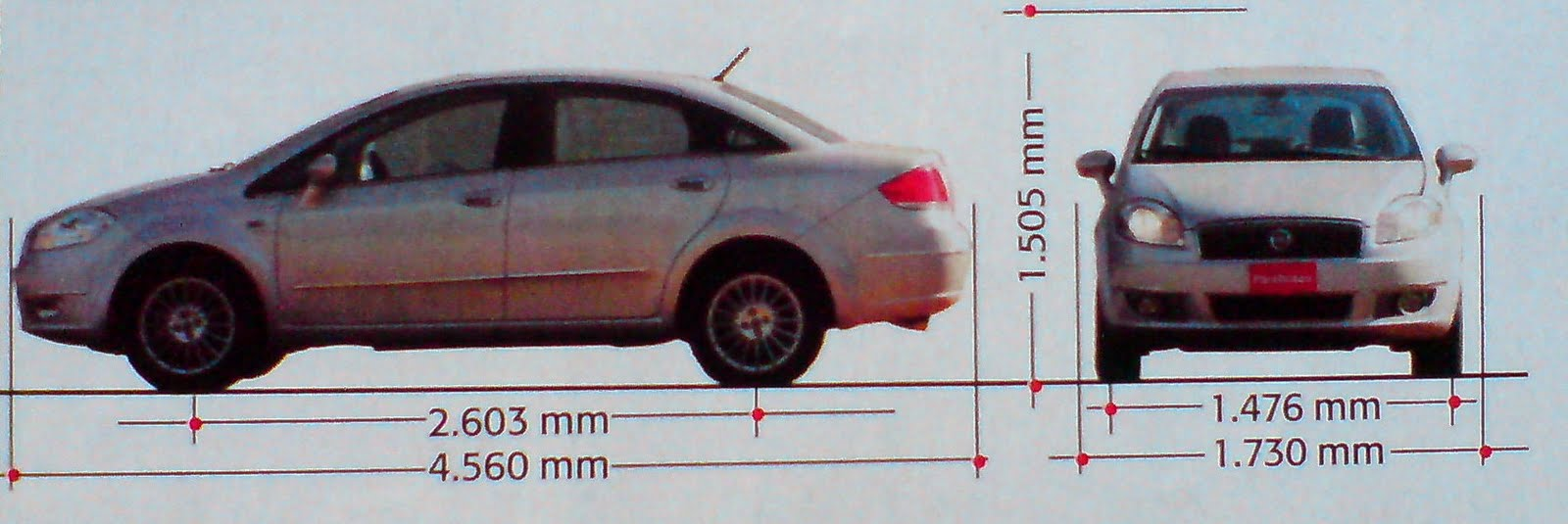 Prueba fiat linea 1 9 16v essence dualogic testeados for Dimensiones fiat idea