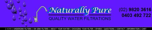 Choose a Water Filtration Systems - Tips by NaturallyPure.com.au