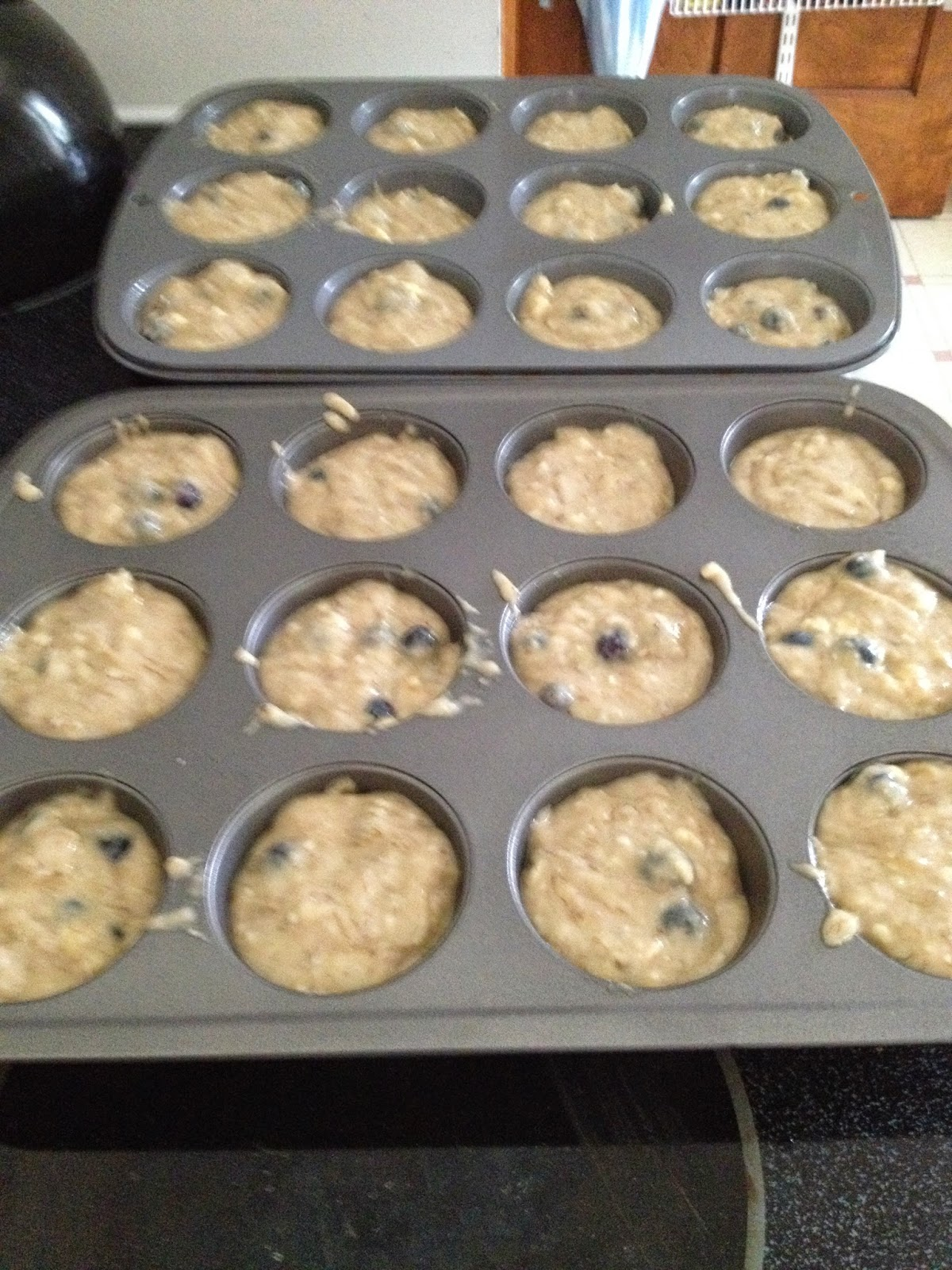 cool dads cook kids in the kitchen wednesday banana muffins. Black Bedroom Furniture Sets. Home Design Ideas