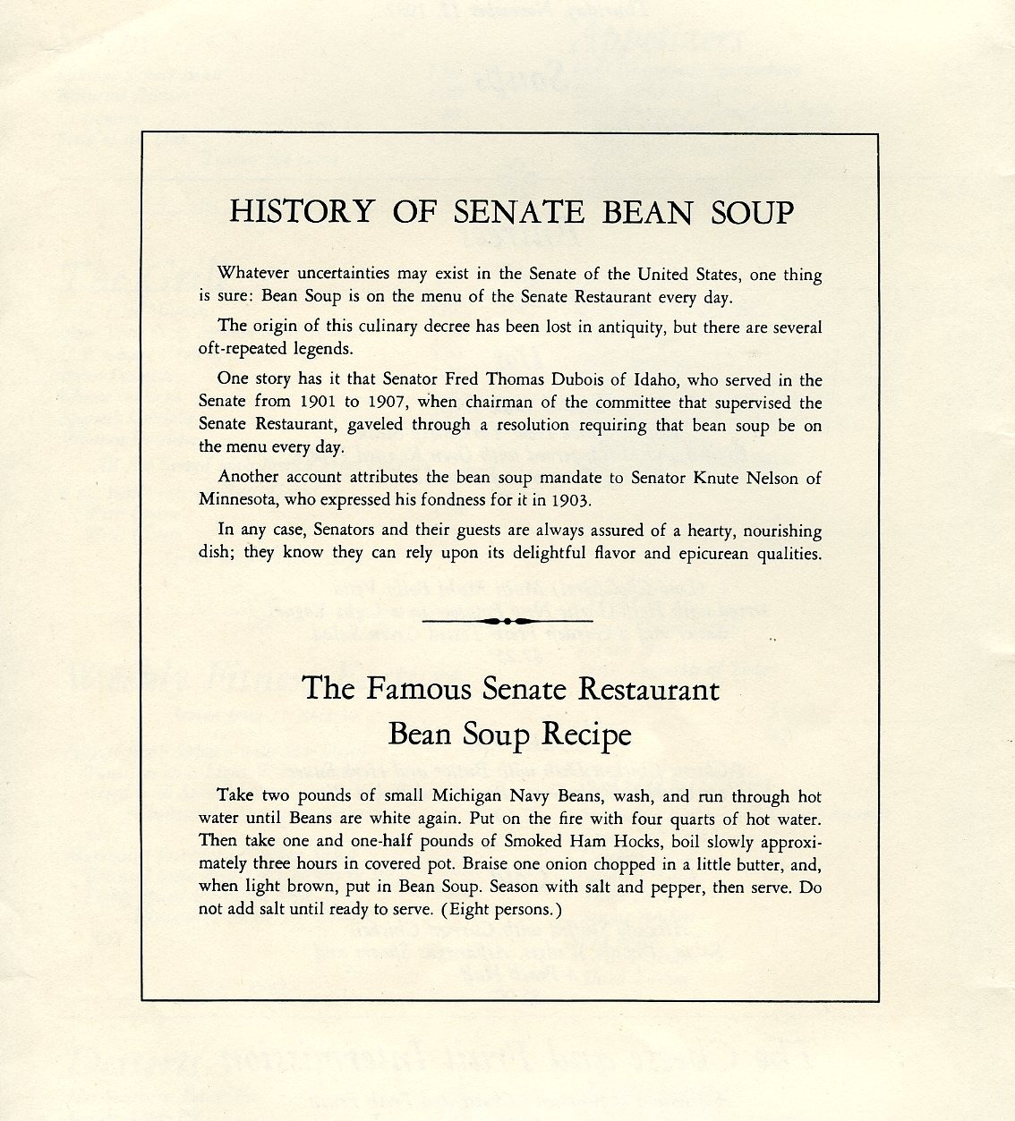 Menu nomad u s senate restaurant for U s senate dining room