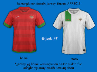 Jersey Timnas Indonesia AFF 2012