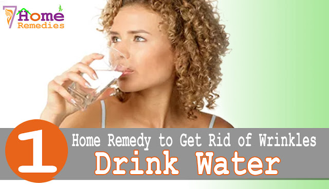 Drinking Water to get rid of wrinkles