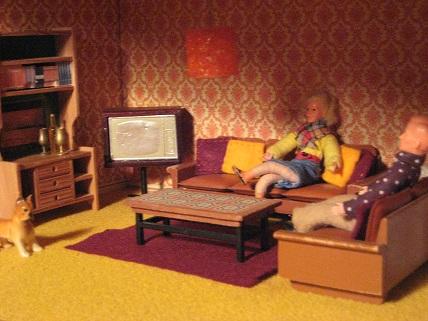 Irmchensminiwelt das 70er jahre lundby haus for 70er wohnzimmer