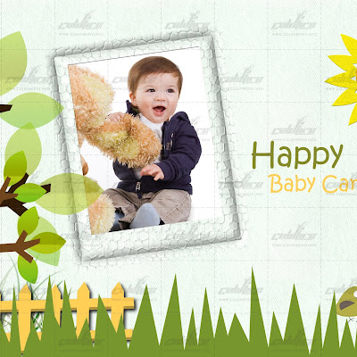 Happy Baby Card  and Tarpaulin Design