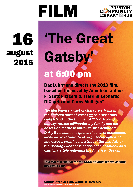 Eating Our Way Through Wisconsin Film_16 >> Wembley Matters The Great Gatsby Screened At Preston Library On