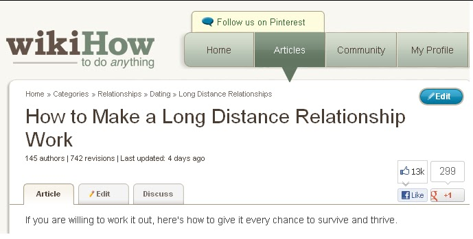 A Love Apart: How to Make Your LDR Work... According to WikiHow