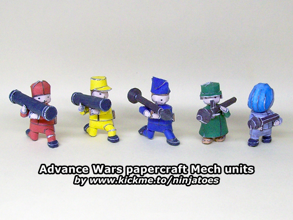 Advance Wars Mech Units Papercraft