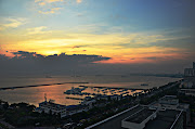 Manila Bay sunset, taken from the rooftop of San Lorenso Tower along Roxas . (roxas blvd sunset)