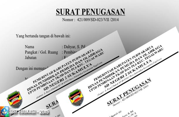 Contoh SK/Surat Penugasan Operator Sekolah (OPS) SD