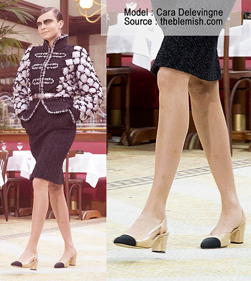 Sepatu Chanel Wanita The Two Tone Sling Back