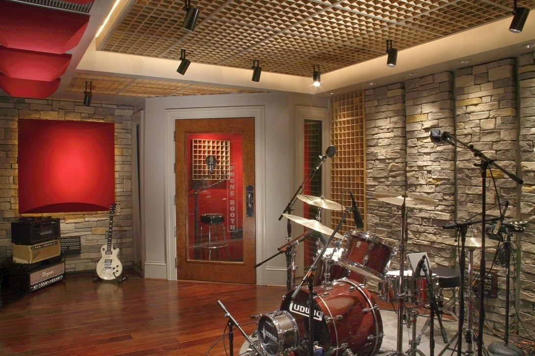 Wall painting ideas for music room for Studio ideas