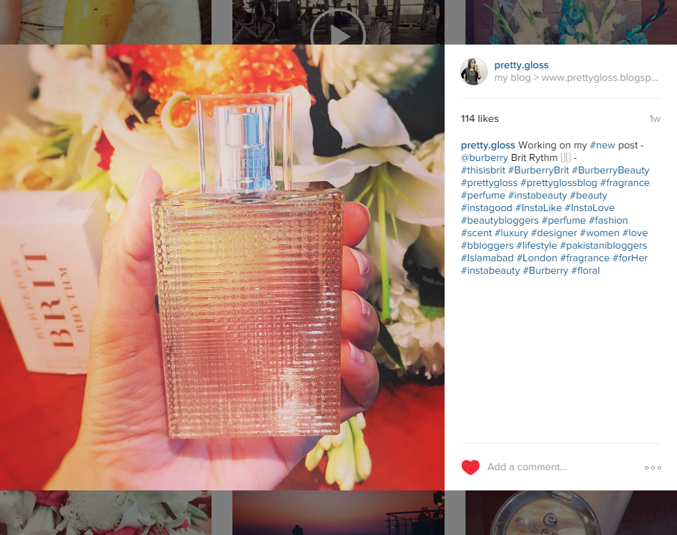 Burberry Brit Rhythm for Her Floral Fragrance