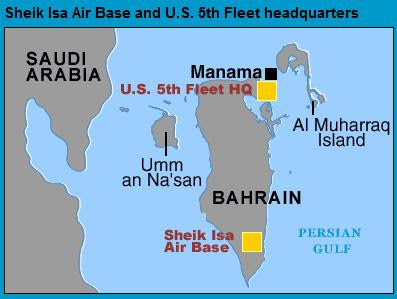 Fifth Fleet Abandons Base In Bahrain US Navy Denies Evacuation - Map of us navy 5th fleet area of responsibillity