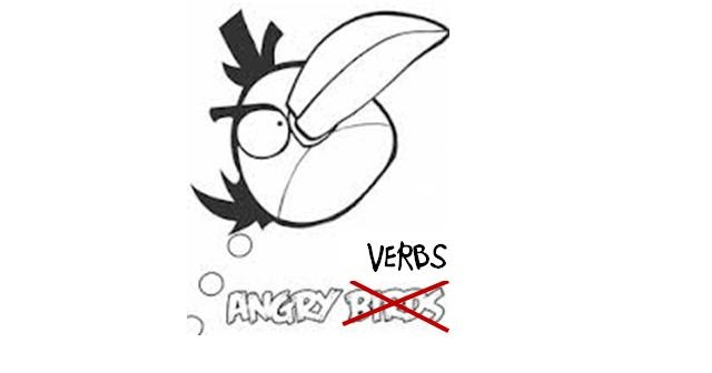 angry verbs and a currently