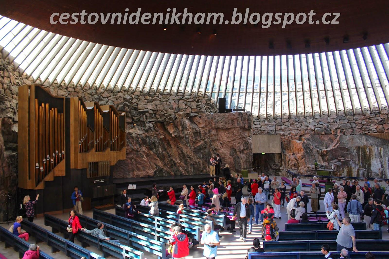 Inside Temppeliaukio Church