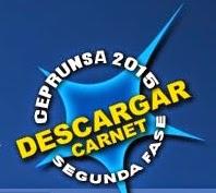 Descarga carnet ceprunsa II Fase 2015