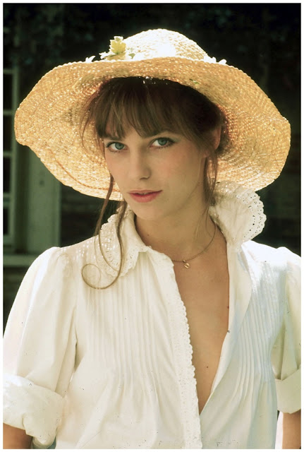 jane birkin with floppy hat