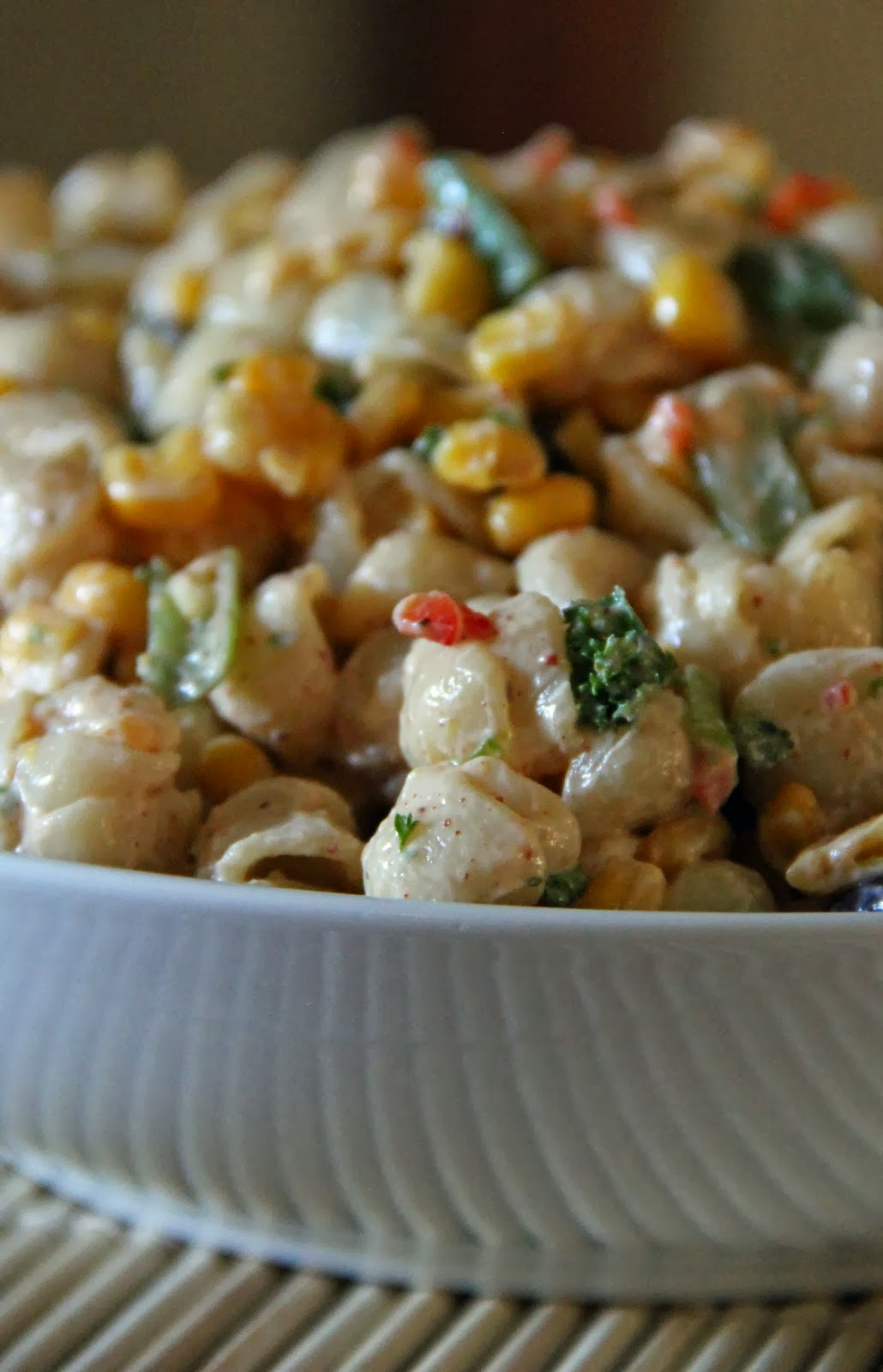cumin dressing chilled seafood pasta salad with ginger yogurt dressing ...