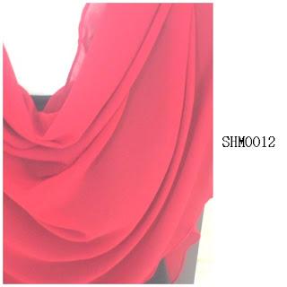 shawl halfmoon plain merah