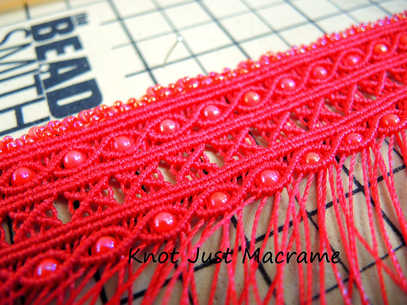 Micro macrame cuff design from Knot Just Macrame.