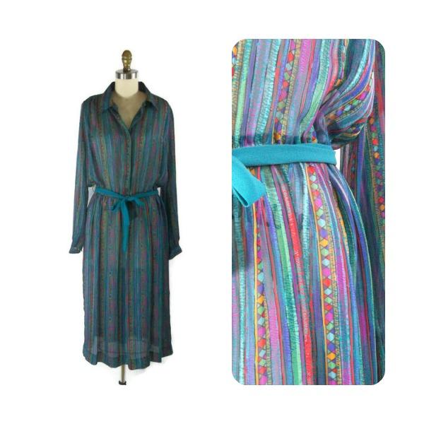 foxburrow vintage bold sheer dress