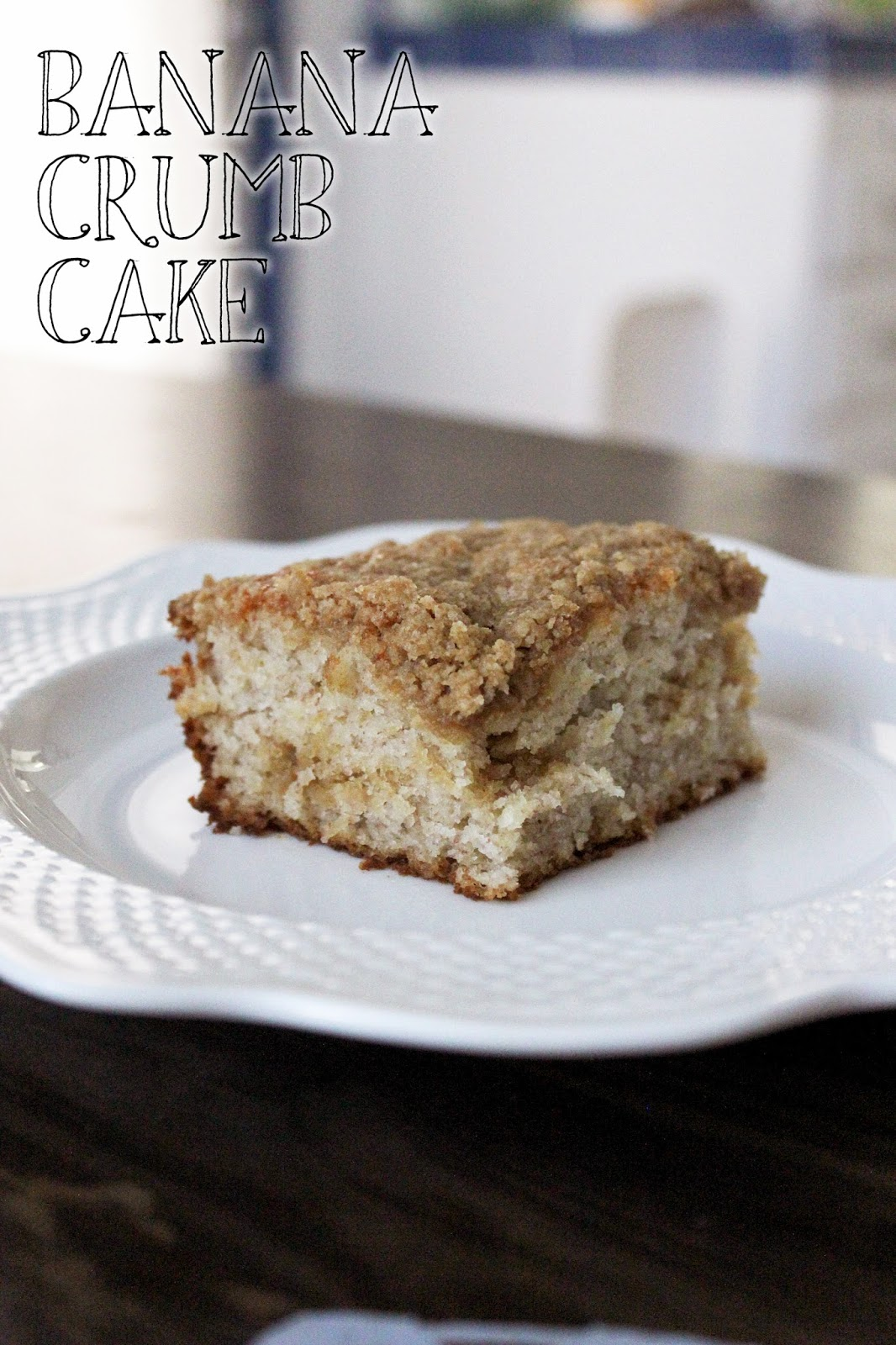 Recipe for Banana Crumb Cake by freshfromthe.com