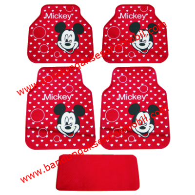 Karpet Mickey Genit Red Shanghai