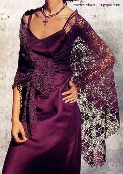 Crochet Patterns For A Shawl : Crochet Shawls: Lace Shawl - Crochet Shawl Pattern