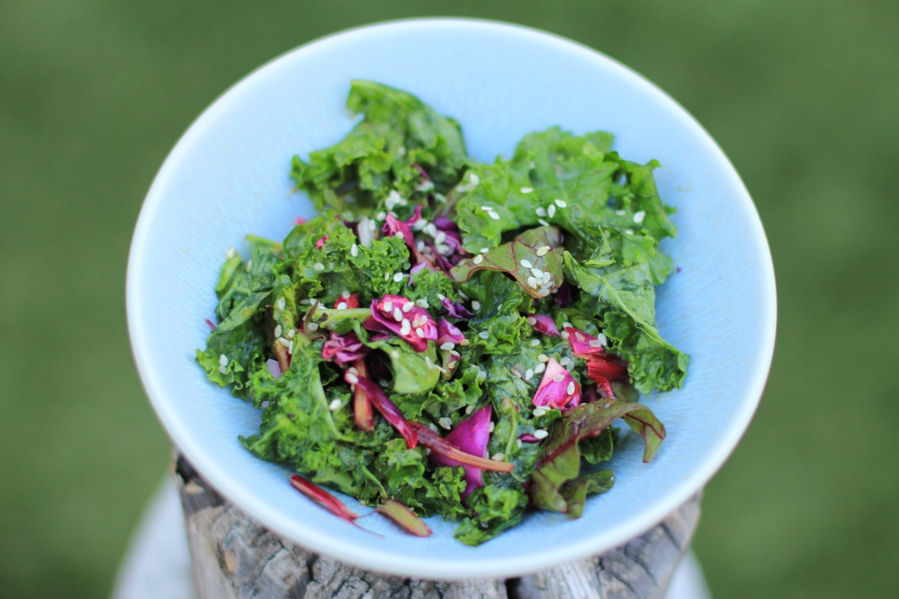 The Tale of a Mermaid : Lemon Sesame Kale Salad