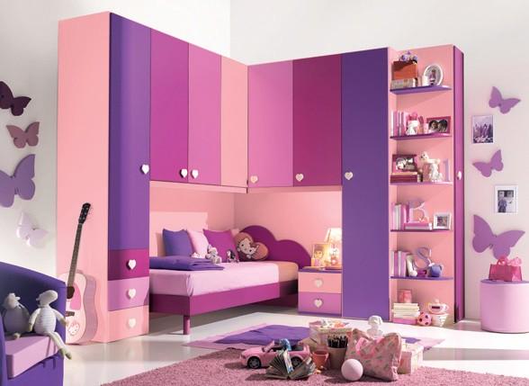 Habitaciones con estilo dormitorios de ni a en rosa y lila - Habitaciones pequenas para ninas ...