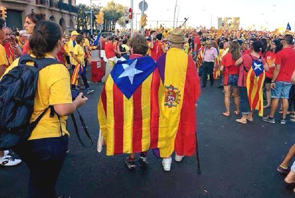 Bandera republicana en Catalunya